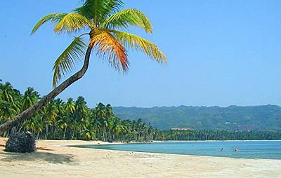 The beach, two steps away from your future property in Samana in the Caribbean Dominican Republic